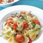 Maple Dressed Tomato and Mozzarella Pasta Salad
