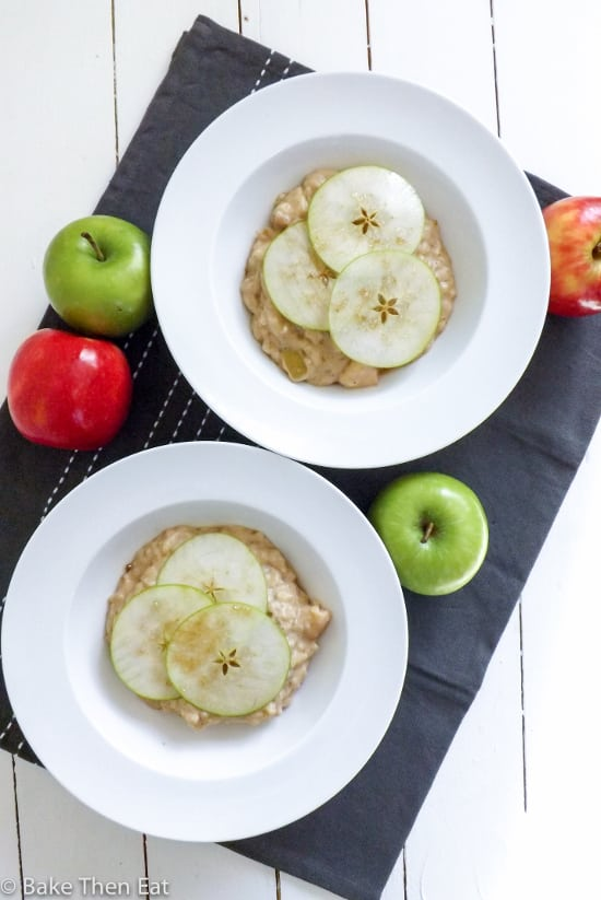 Peanut Butter and Apple Rice Pudding