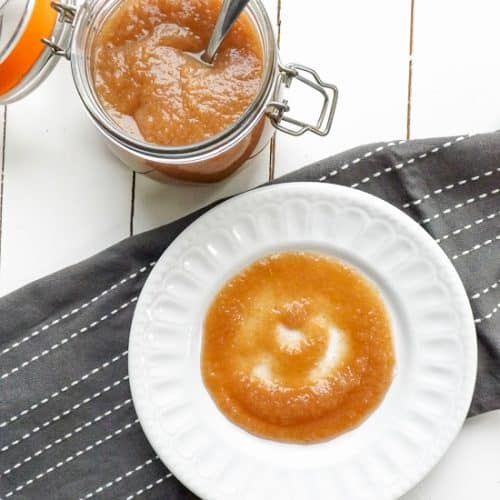 Homemade Slow Cooker Spicy Apple Sauce