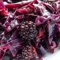 Braised Red Cabbage with Blackberries