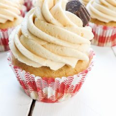 Maple Cupcakes with Peanut Butter Frosting