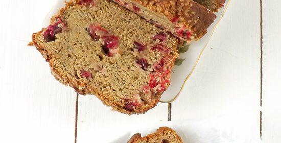 Gluten Free Cranberry Banana Bread