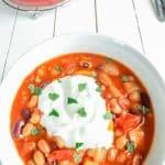 Slow Cooker Vegetarian Spicy Three Bean Stew