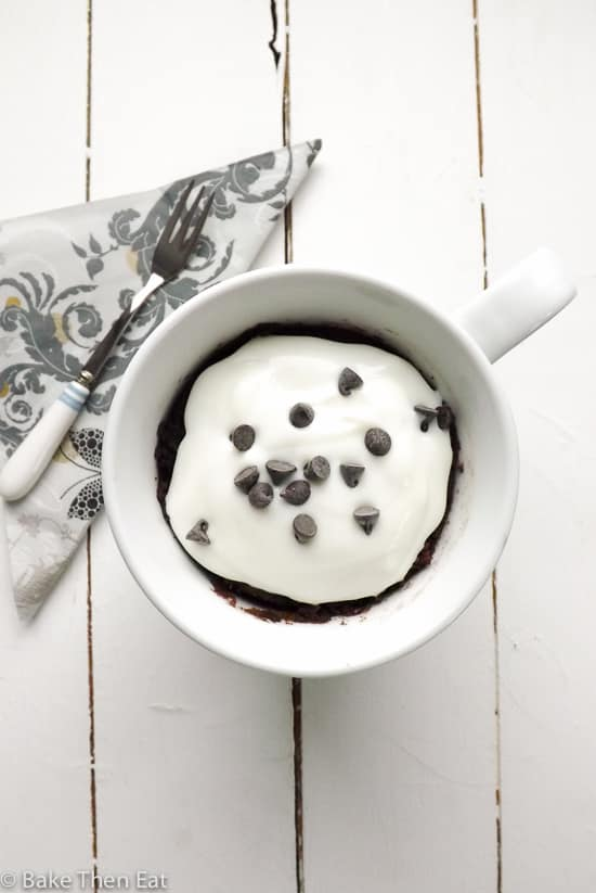 Gluten Free Vegan Chocolate Mug Cake