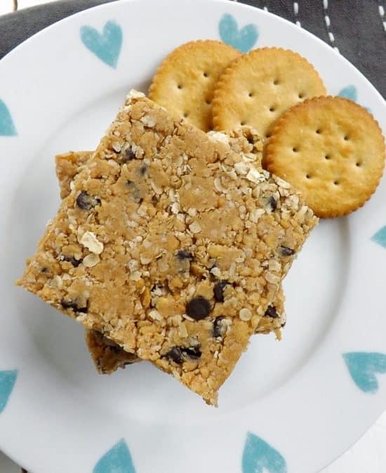 No Bake Peanut Butter Ritz Cracker Breakfast Bars