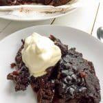 Slow Cooker Vegan Hot Fudge Sauce Chocolate Cake