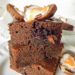 Easy Cadburys Cream Egg Brownies