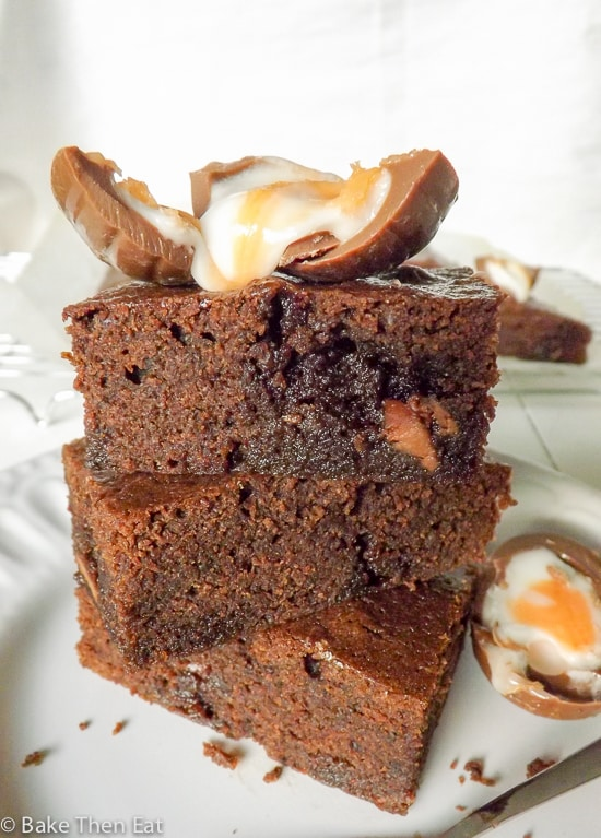 Easy Cadburys Cream Egg Brownies