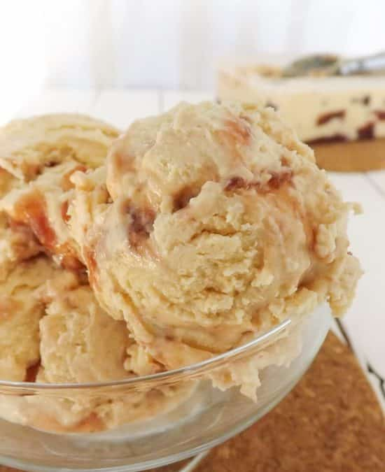 Peanut Butter and Jelly Ice Cream