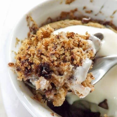 Gluten Free Vegan Banana Mug Cake | BakeThenEat.com