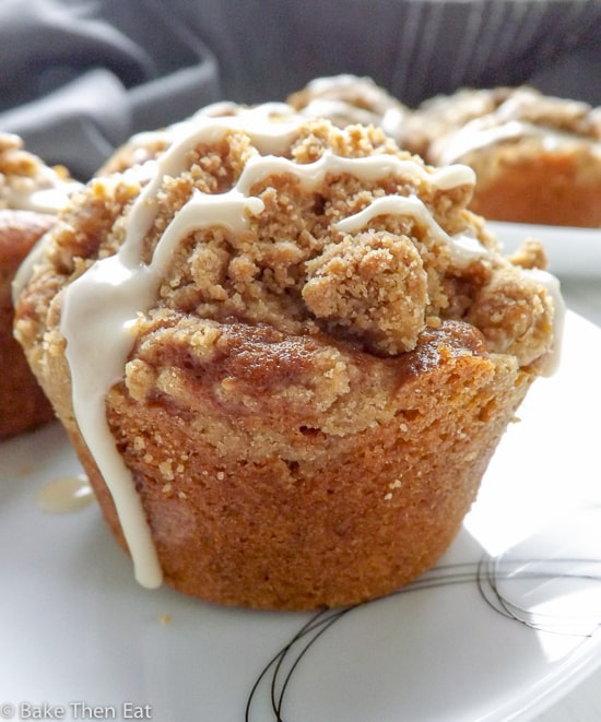 Coffee Muffins with Walnut Streusel Topping