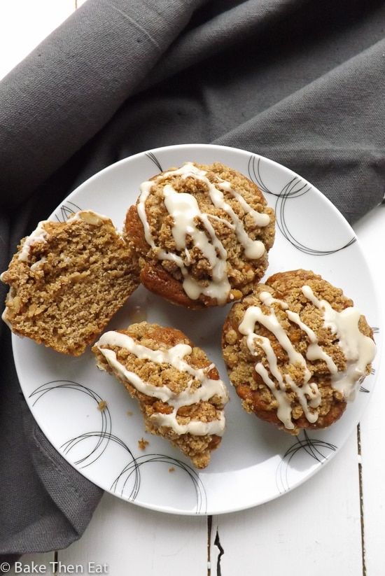 Coffee Muffin with Walnut Streusel | BakeThenEat.com