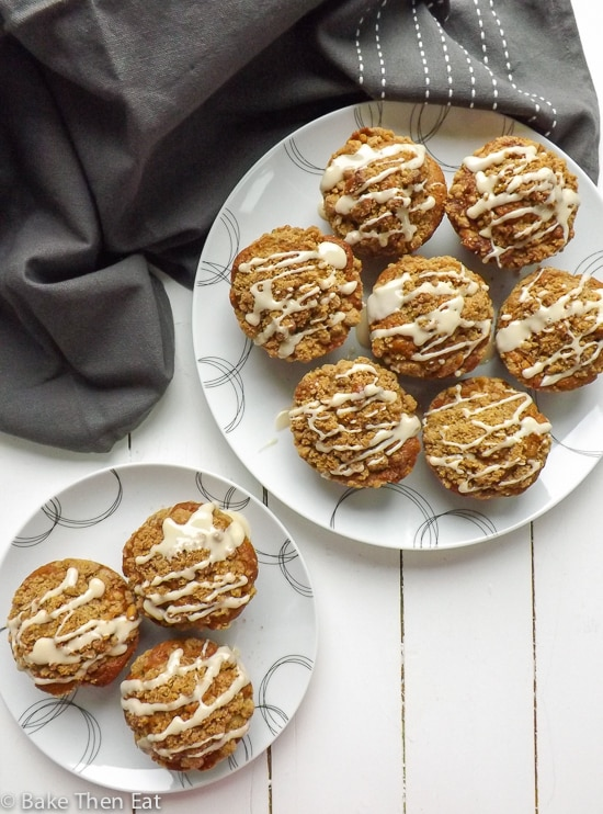 Coffee muffins with a walnut streusel | BakeThenEat.com