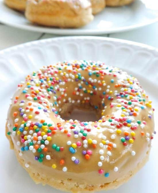 Baked Vegan Yogurt Peanut Butter Donuts