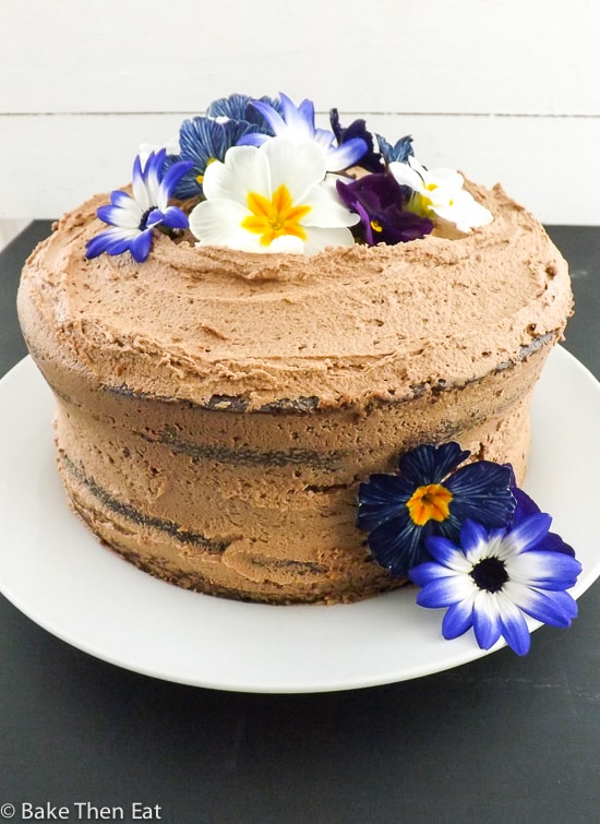 Rich Chocolate Fudge Cake with Nutella Frosting