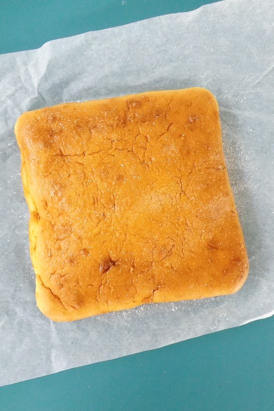 Light Airy Orange Lemon Snack Cake - Plain   BakeThenEat.com