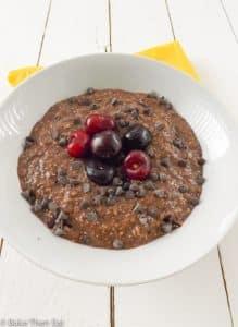 Lactose and Gluten Free Overnight Chocolate Cherry Oats | BakeThenEat.com