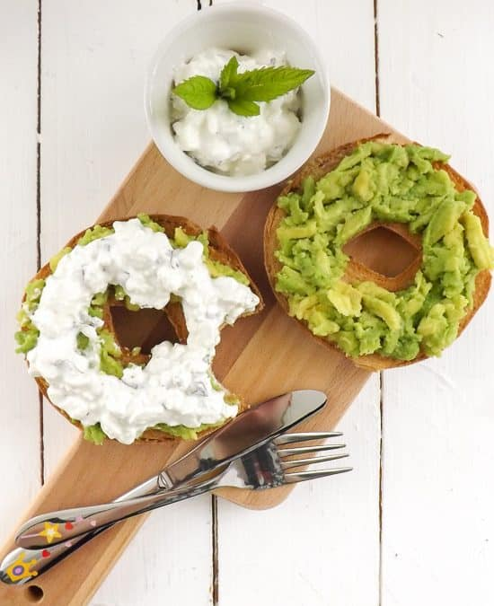 Protein Rich Mint Cottage Cheese Avocado Gluten Free Bagel