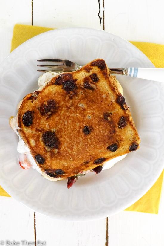 Luxury Peanut Butter Marshmallow Toastie toasted | BakeThenEat.com