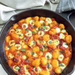 Cheesy Gnocchi in a Simple Herb Tomato Sauce | BakeThenEat.com