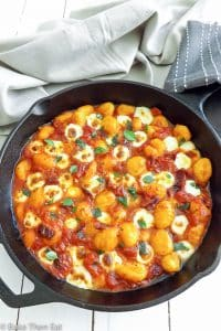 Cheesy Gnocchi in a Simple Herb Tomato Sauce   BakeThenEat.com