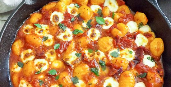 Cheesy Gnocchi in a Simple Herb Tomato Sauce