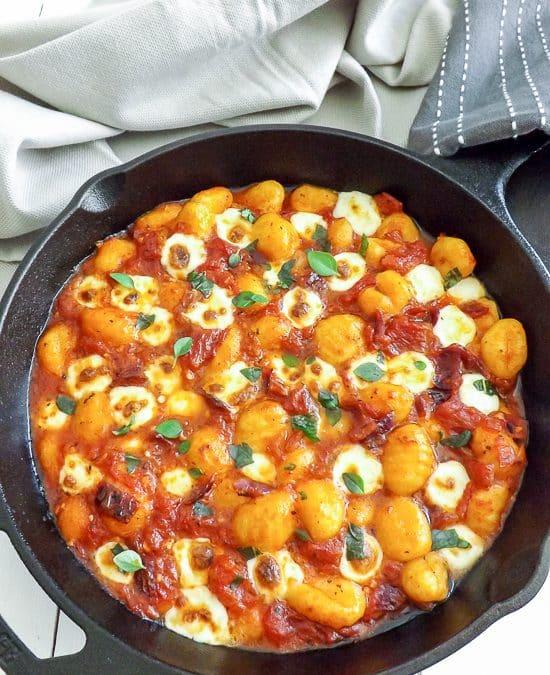 Cheesy Gnocchi in a Simple Herb Tomato Sauce