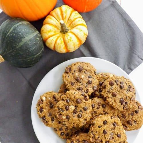 Breakfast Chocolate Chip Pumpkin Oatmeal Cookies | BakeThenEat.com