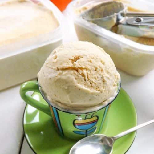 No Churn Sweet Pumpkin Ice Cream | BakeThenEat.com