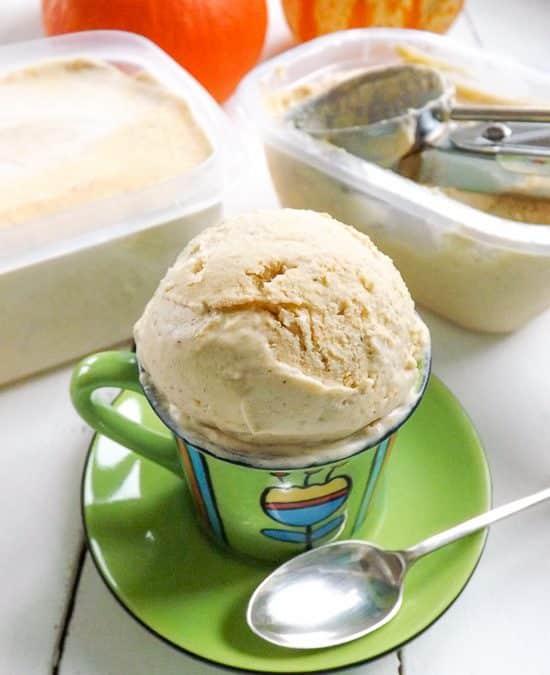 No Churn Sweet Pumpkin Ice Cream
