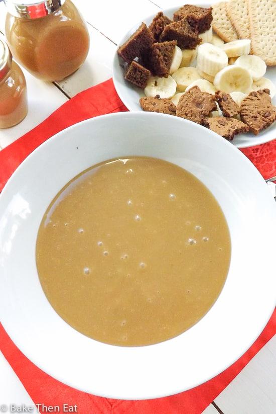 Easy Peanut Butter Butterscotch Dessert Sauce | BakeThenEat.com