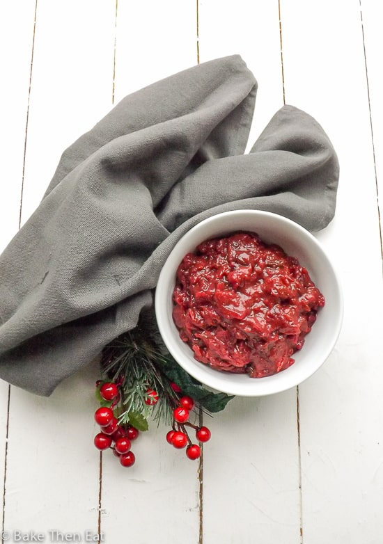 Christmas Spiced Cranberry Relish | BakeThenEat.com