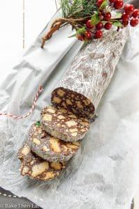Peanut Butter Chocolate Salami Cookies | BakeThenEat.com