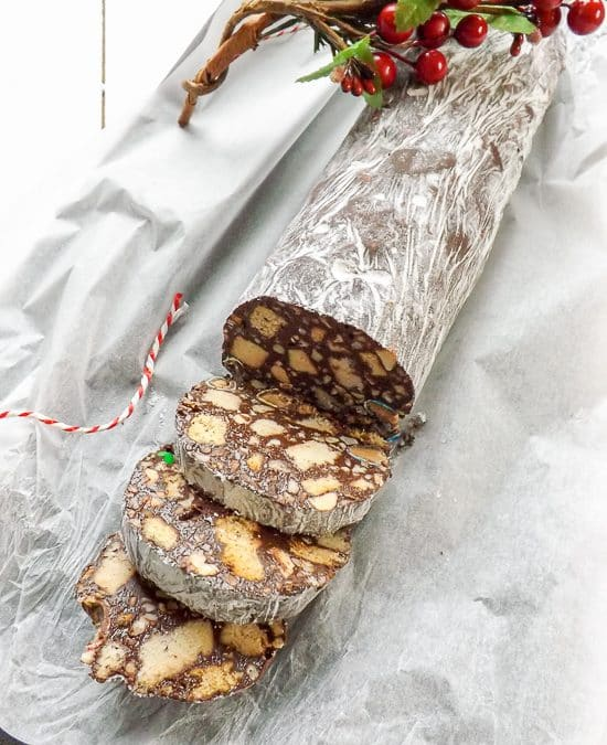Peanut Butter Chocolate Salami Cookies
