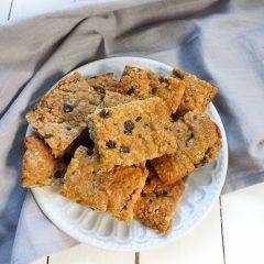Vegan Refined Sugar Free Peanut Butter Oat Thins | BakeThenEat.com
