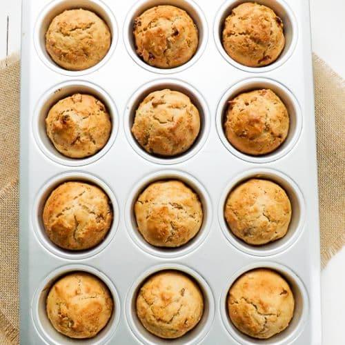 Easy Apple Sultana Breakfast Muffins | BakeThenEat.com
