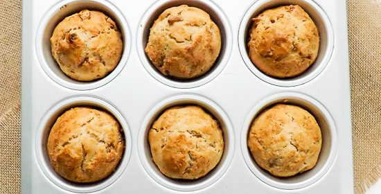 Easy Apple Sultana Breakfast Muffins