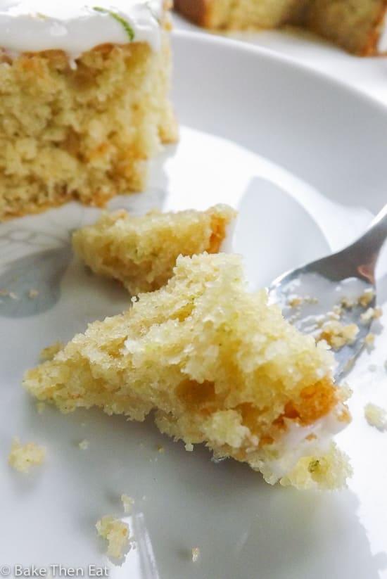 Simple Lemon and Lime Snack Cake | BakeThenEat.com