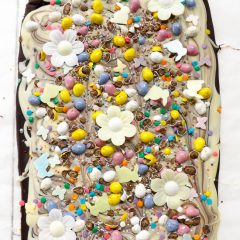 Easter Themed Double Chocolate Bark