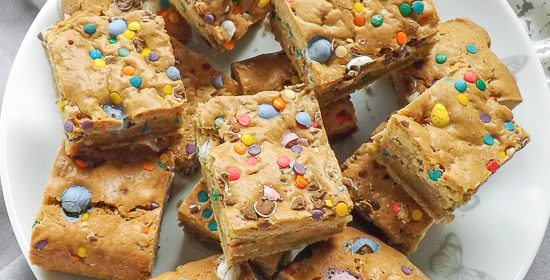 Funfetti Mini Egg Easter Inspired Cookie Bars