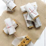 No Bake Peanut Butter Ginger Chocolate Chip Granola Bars
