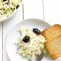 Sweet Crispy Cabbage Salad with Lime Dressing | BakeThenEat.com