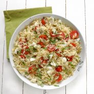 Quick & Simple Caprese Orzo Pasta Salad