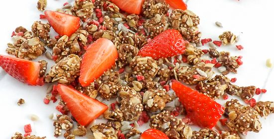 Homemade Peanut Butter Strawberry Granola