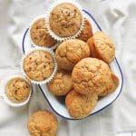 Skinny Sugar Free Fruity Muffins   BakeThenEat.com