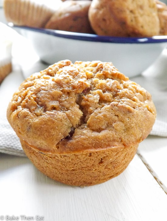 Skinny Sugar Free Fruity Muffins | BakeThenEat.com