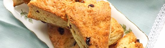 Super Simple Lemony Fruit Scones