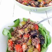 Quick Vegan Summer Fruit Quinoa Salad