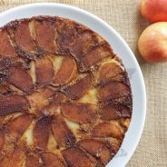 Peanut Butter Upside Down Apple Cake