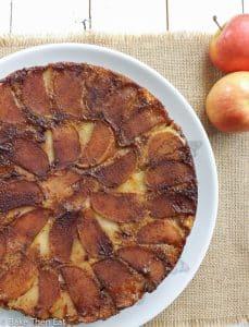 Peanut Butter Upside Down Apple Cake | BakeThenEat.com
